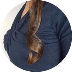 Locken in den Haarlängen