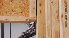 Aufrichten von Holz Elementen mit dem Kran D. Vogt Holzbau GmbH Wangen SZ
