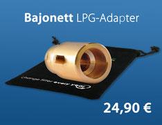 Bajonett LPG-Adapter mit Beutel