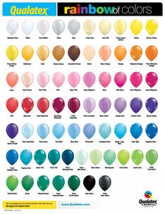 Qualatex Latexballons rund einfarbig Qualitätsballons hochwertig Farbkarte rainbow of colors Farben