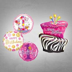 Folienballons Geburtstag Happy Birthday Alles Gute Kindergeburtstag Geschenk Überraschung Deko Dekoration Party Mitbringsel Mädchen Junge