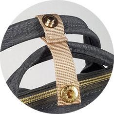 Pomelo Best Wickel-Handtasche: zwei Handgriffe zum Bündeln