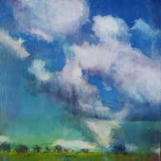 """Glorious Day#2""20.5 x 20.5cm acrylic on cradled board. GD02a"
