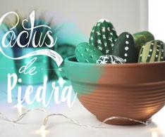 como hacer cactus con piedras pintadas invertirenfamilia.com