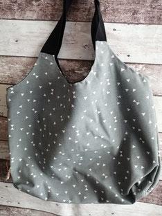 Shopper Dreiecke Triangles Minidreiecke Einkaufstasche Tragetasche Tasche Beutel Handtasche handgemacht Handarbeit handmade SaSch Selbstgefertigtes aus Schwaben