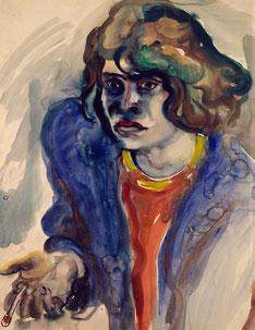 Die Zigarettenpause, Selbstbildnis, 1931