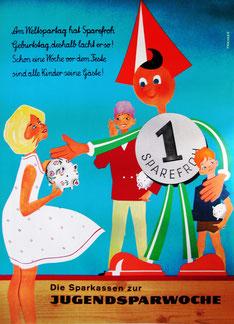 Kinder und Geld. Sparerziehung (Poster).
