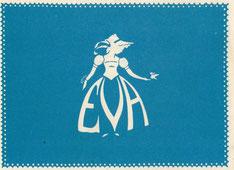 Namenschild für Eva - um 1965.