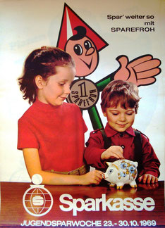 Kinder und Geld. Sparerziehung der Sparkassen 1970.