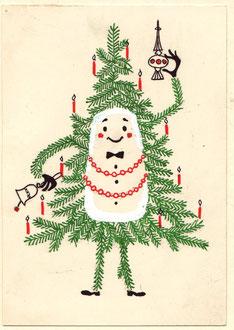 Weihnachten 1955 - Karte.