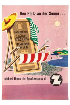Sparkassenbuch Werbung der Sparkasse 1950er Jahre.