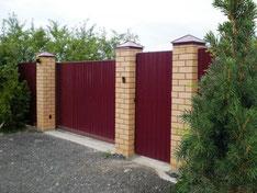 Забор из профнастила для дачи  Волоколамск
