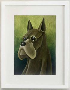 THE DOG, 2019, acrilico, 20 x 30