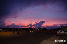 Uruguay - Südamerika - Reise - Motorrad - Honda Transalp - Spektakulärer Sonnenuntergang in Montevideo