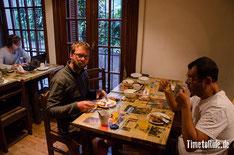 Uruguay - Südamerika - Reise - Motorrad - Honda Transalp - Frühstück im Hostal in der Nähe der Cuidad Vieja