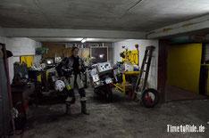 Uruguay - Südamerika - Reise - Motorrad - Honda Transalp - Parken neben der Werkstatt in Montevideo