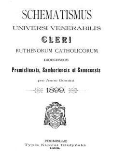 schematismus 1899