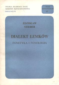 Dialekt Łemków : fonetyka i fonologia / Stieber Zdzisław