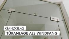 Schaufenster-Türanlage
