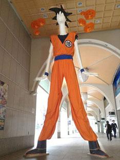 名古屋駅ではナナちゃんが悟空に!