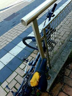 abgestellt, nicht länger brauchbar für den Radschnellweg