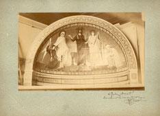 """Photographie de l'abside du Panthéon dédicacée  par  Ernest Hébert """"à Jules Aviat  souvenir  de son maître et ami"""""""