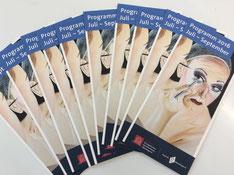 Printwerbung für Künstler, Einladungskarten Ausstellung