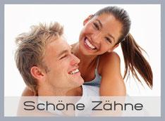 Schöne weisse Zähne mit Bleaching (Zahnaufhellung), Veneers und Keramik vom Kieferorthopäden Dr. Tarnovius in München-Laim (© Yuri Arcurs - Fotolia.com)