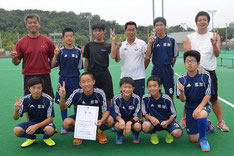 男子準優勝 那加・中中学校