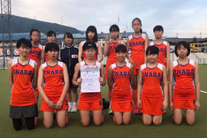 中学女子第4位 稲羽中学校