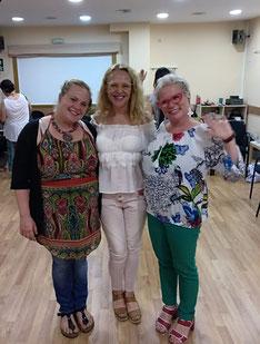 Mari Carmen Navarro con Cora Beser y Lola Siegmund