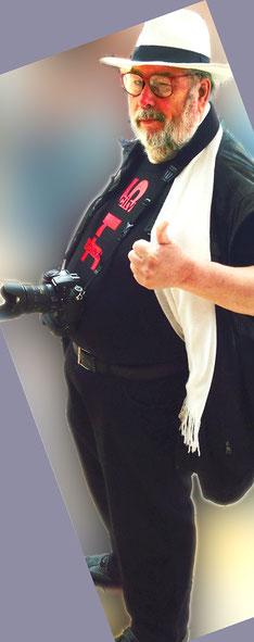 Mein Bewerbungs-Foto für die Reporter-Mafia.