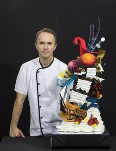 Olivier Jacquot, vainqueur du concours pièce artistique en sucre