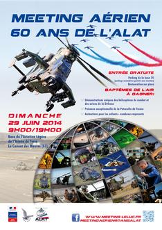 Meeting aerien  des 60 ans de l'ALAT : Luc le Cannet 2014 , Tigre EC-655, AIRBUS hélicoptere, reviews  , reportage, Spotter day