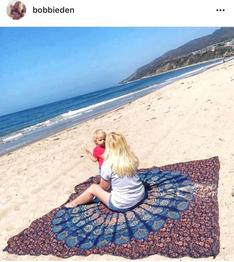 xxl mandala roundie paars bohemian girl bohostyle girls zomer musthave strandkleed strandlaken influencers gezocht