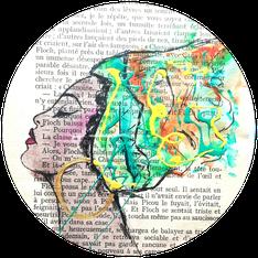 tee shirt personnalisé stylé moderne peint à la main coloré chat