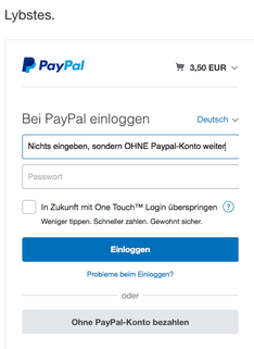 Pay Pal Einloggen