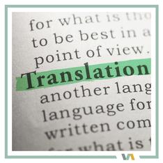 Translation, Text unterstrichen, zur Darstellung der Dienstleistung  Übersetzungen von VAJUS Virtuelle Assistenz
