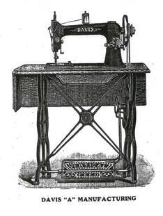 "1889-92 Treadle - DAVIS  Model ""A""  Head"