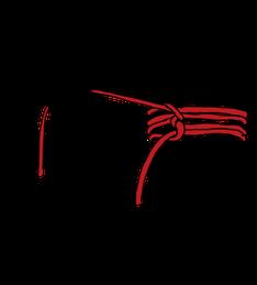 パイプへのロープの縛り方7