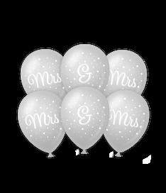 Wedding balloons Mrs&Mrs €2,50 6stuks