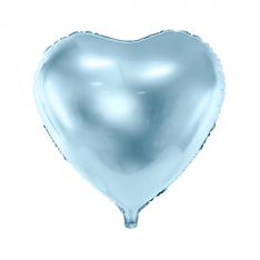 Folieballon Hart Zachtblauw € 1,50 46x49cm