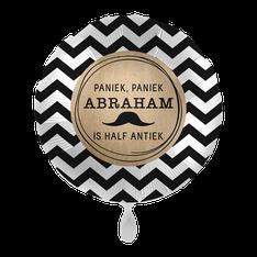 Folieballon Abraham half antiek € 4,50 43cm