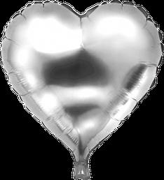 Folieballon Hart zilver € 1,50  46 cm
