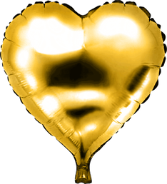 Folieballon Hart goud € 1,50 46 cm