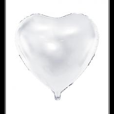 Folieballon Hart Wit € 1,50 46cm