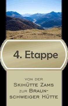 4 Etappe E5 Fernwanderweg von der Skihütte Zams zur Braunschweiger Hütte / Bildnachweis © Yvonne Klinecen