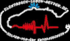 Logo, DRK, Unterjesingen, Helfer vor Ort, Rotes Kreuz, elektrisch, E-Auto, EKG, Defibrillation, corpuls, BMW i3, Blaulicht, nassgeschwitzt, Stecker