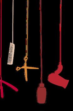 Logo - Véronique Ruelle, coiffeur à domicile à Paris. Coupe énergetique au rasoir coupe-choux - Santé et vitalité du cheveu