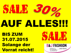 30% Sale bei B&J Fashion